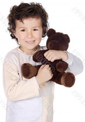 child prepared to sleep