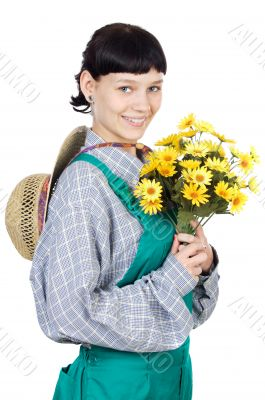 attractive lady gardener