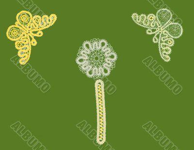 pattern, butterfly, bookmark