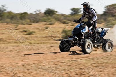 Quad bike desert race