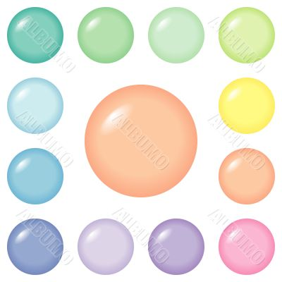 Buttons - round and pastel