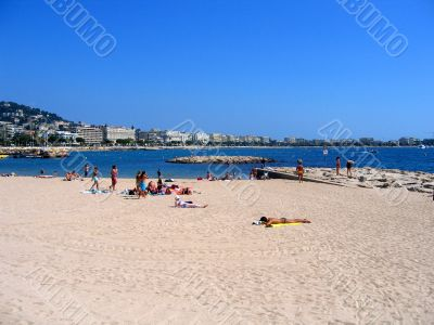 cannes beach in france