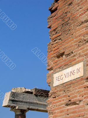 roman ruins at pompeii, italy