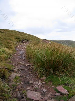 Stone walkway in Wales