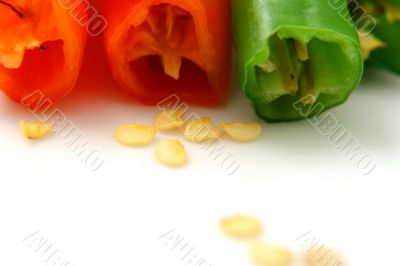 Pepper isolated in White Background