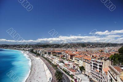 Nice beach and town