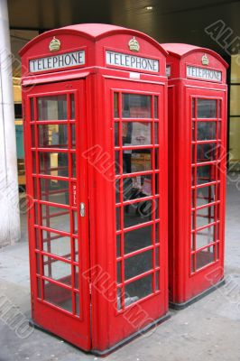 Two London Phone Booths