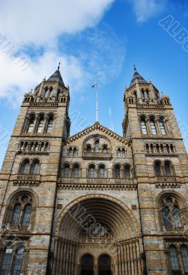 natural history museum - entrance towers