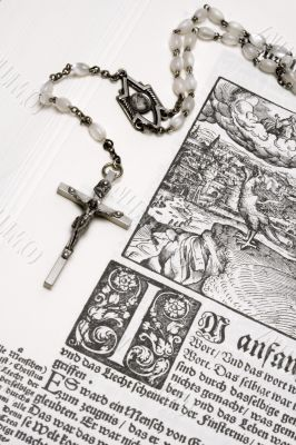 Rosary and Bible - Close View