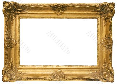 Gold Plated Wooden Picture Frame w/ Path - Wide