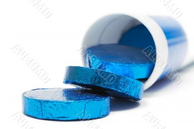 Tube of Wrapped Pills - Front View