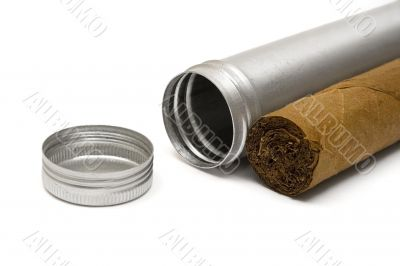 Cigar and Metal Case