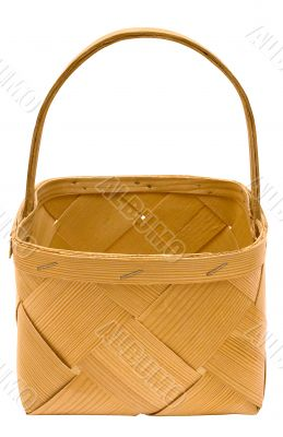 Cubic Wooden Basket w/ Path - Top Front View