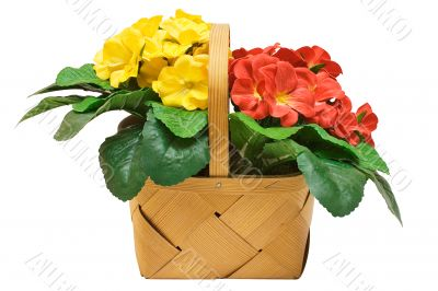 Basket with Flowers - Path Included