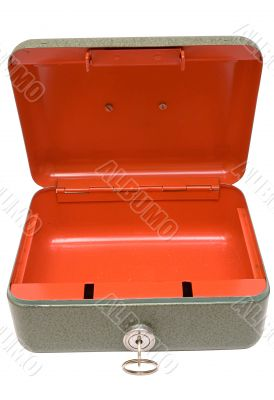 Empty Cash Box w/ Path - Top Front View