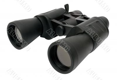 Binoculars Back - Top Side View w/ Path