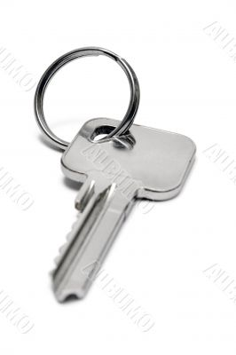 Single Apartment Key w/ Ring - Front View