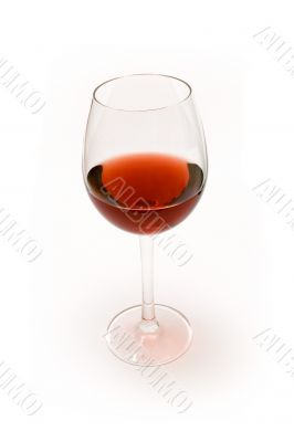 Glass of Red Wine - Wide View