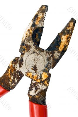 Corroded Pliers w/ Path - Close View