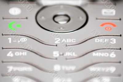 Close-Up on Cell Phone Keypad