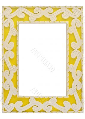 Ornamented Yellow Picture Frame w/ Path