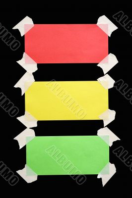 Taped Down Traffic Light Notes w/ Path
