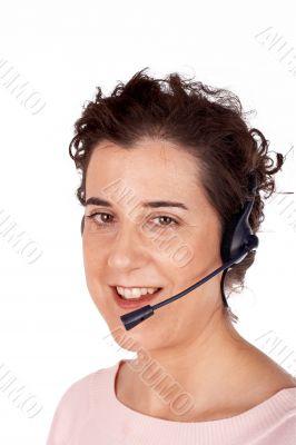Customer support girl