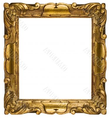 Picture Frame Gold Cubic w/ Path