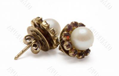 Garnet Earrings w/ Pearls