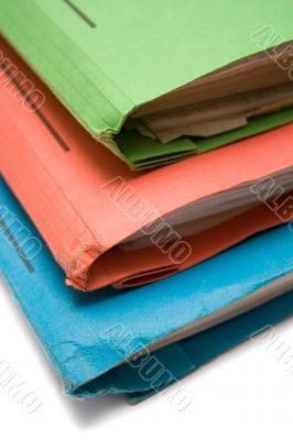 Colorful Binders - Top View Close