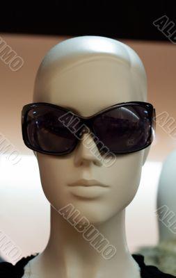 Bald Sunglasses Dummy - Front View