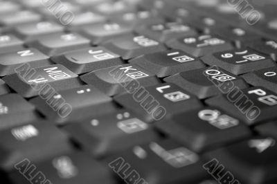 Laptop Keyboard Close-Up