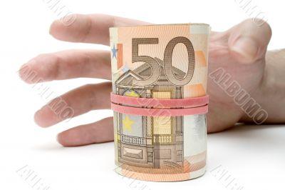 Grabbing a Roll of Money