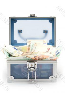 Open Blue Money Chest