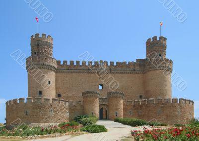 Castle at Manzanares El Real near Madrid, Spain