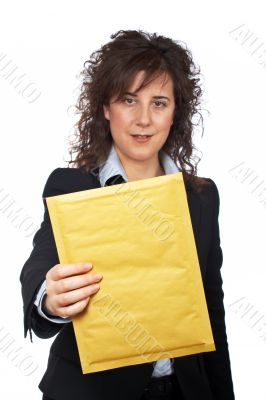 Holding a envelope