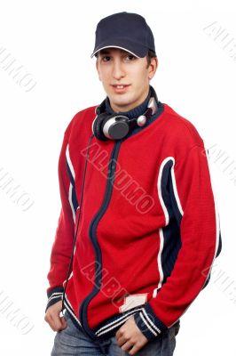 Handsome disc jockey