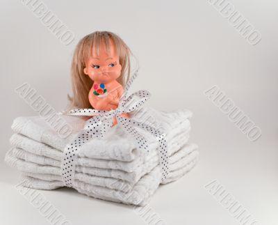 Doll on napkins