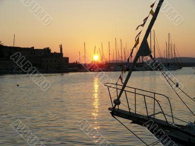 Sunset in Alghero (Italy)