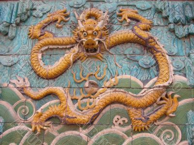 Chinese Dragon symbol in Beijing