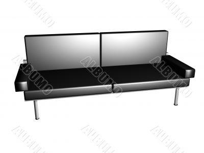 Black executive sofa