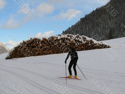 Cross-country ski run