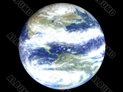 America on an earth globe