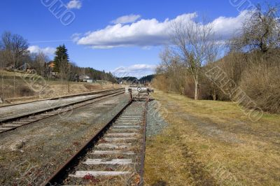 The end of the railway line