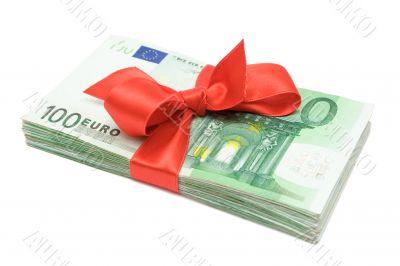Euro Banknotes with Ribbon