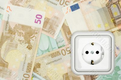 Banknotes and Power Socket