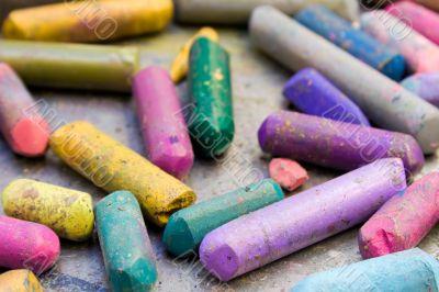 Battered Wax Crayons