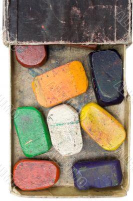 Used Wax Crayons