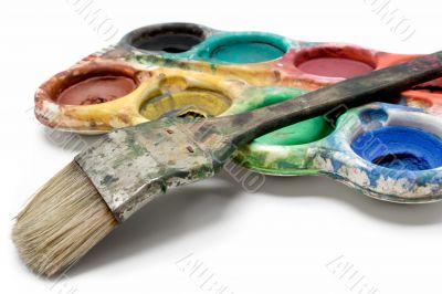 Set of Dirty Watercolors