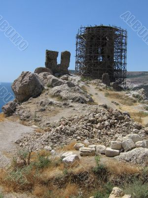 Crimea, Balaklava, medieval fortress of Chembalo